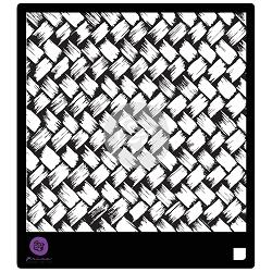 116022 [Parima] Designer ステンシル6インチ (Basket Weave) 570