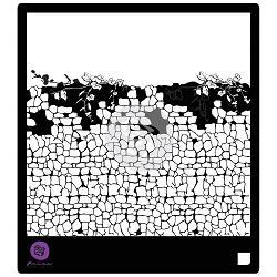 116025 [Parima] Designer ステンシル6インチ (Stone Wall 1) 570
