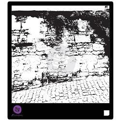 116026 [Parima] Designer ステンシル6インチ (Stone Wall 2) 570