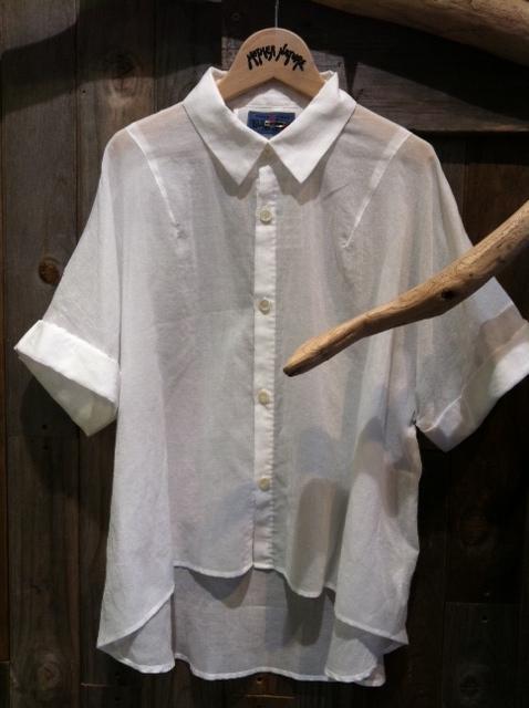 OKURA コットンシフォンワイドシャツ