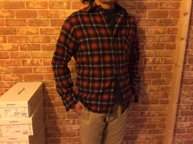 HRM シャギーウールチェックシャツ1