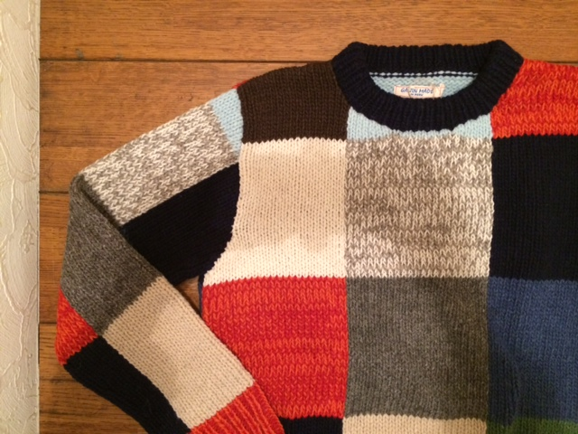 GJ パッチワークウールCセーター2