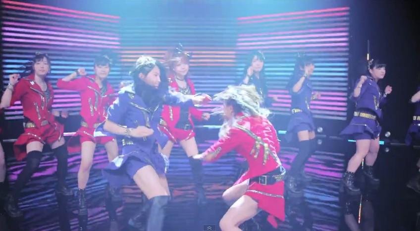 鞘師と石田のバトルダンス
