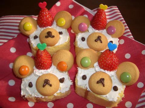 クマさんロールケーキ