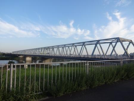 014葛飾橋に到着