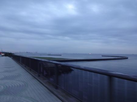 016美浜大橋に到着、ここからサイクリングロードを通って、集合場所へ