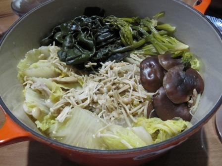 白菜と豚バラの鍋