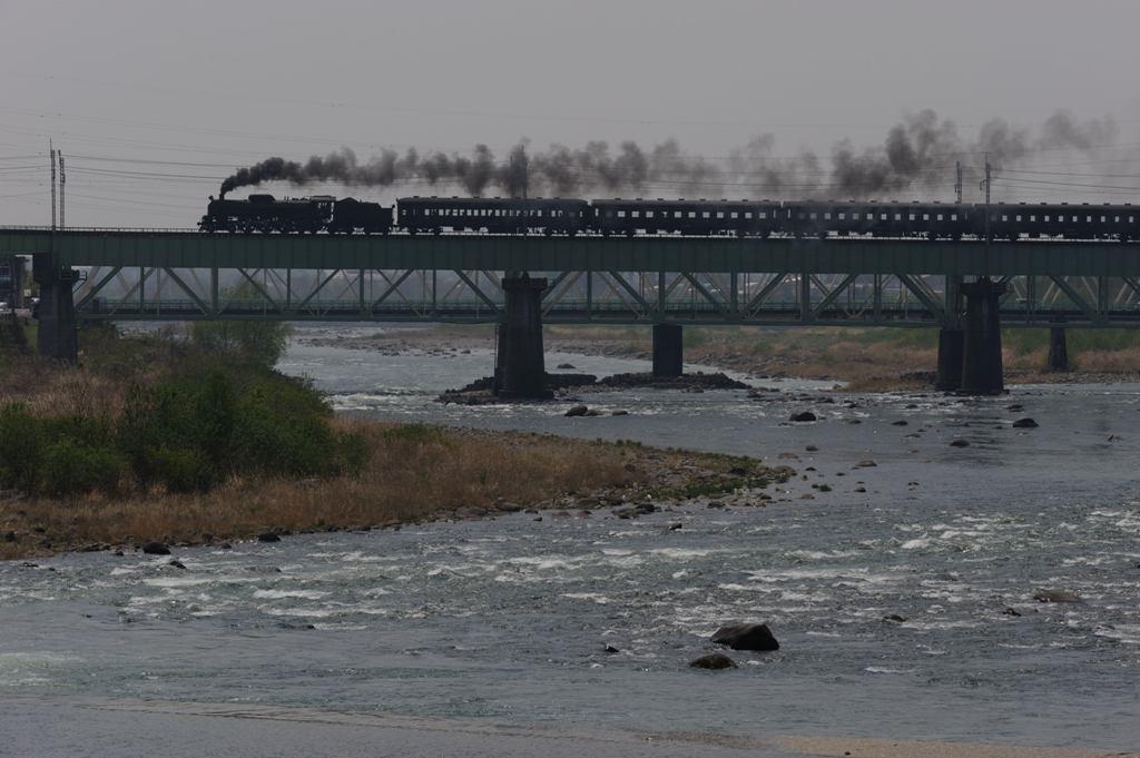 上越線 C6120 利根川第一鉄橋