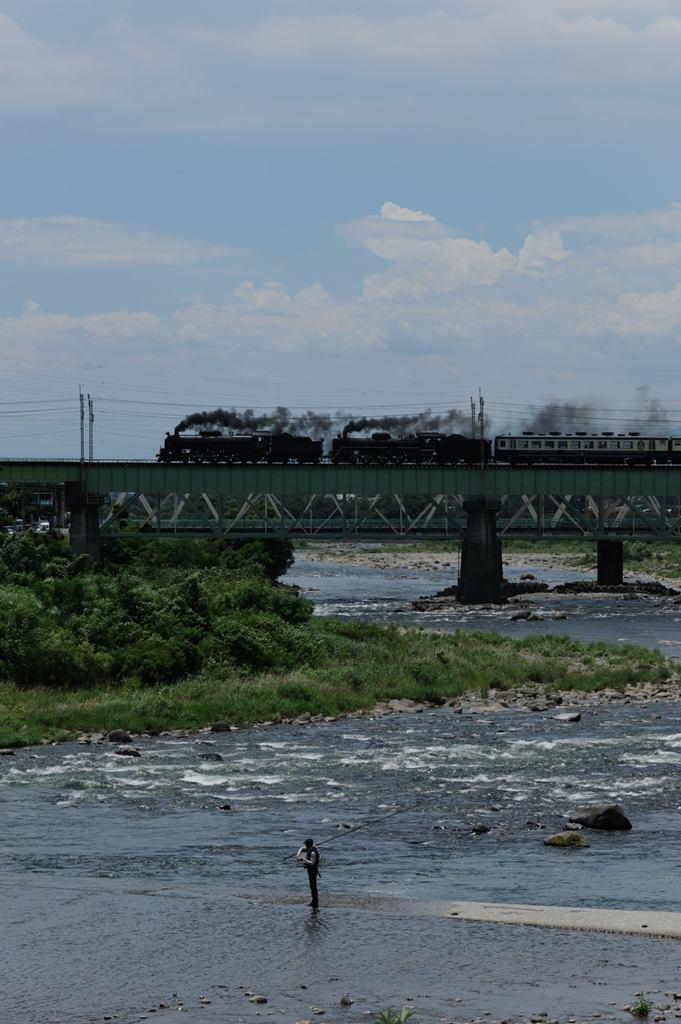 上越線 C6120+C57180 利根川第一橋梁