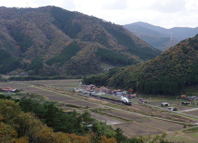 山口線 C571 篠目小俯瞰