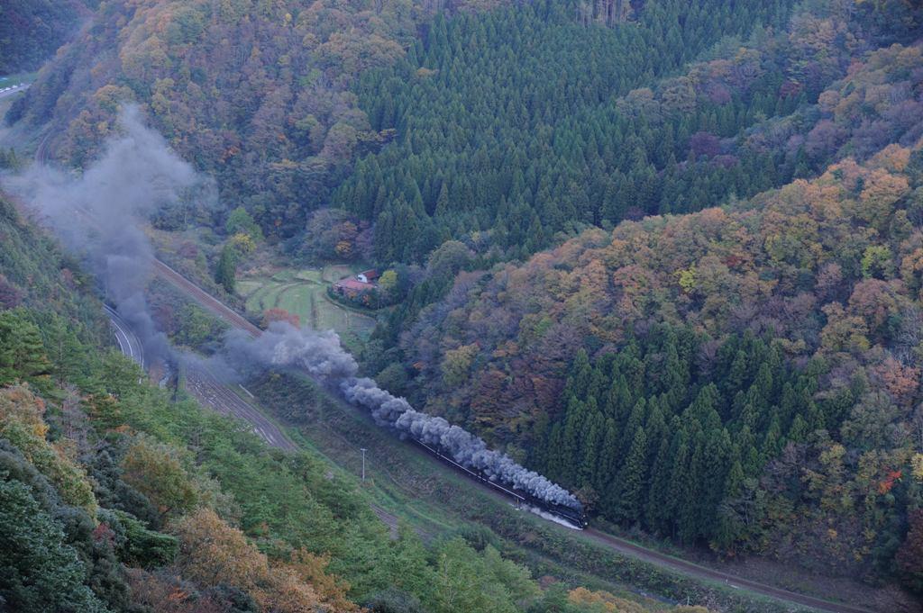 山口線 C571 白井スーパーU俯瞰