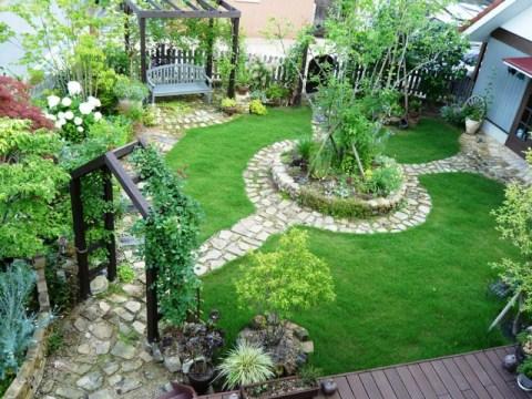 庭中央上から 縮小分
