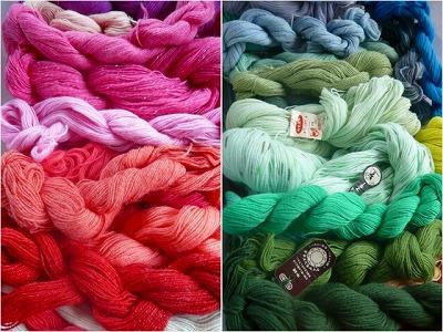 毛糸のグラデェーション