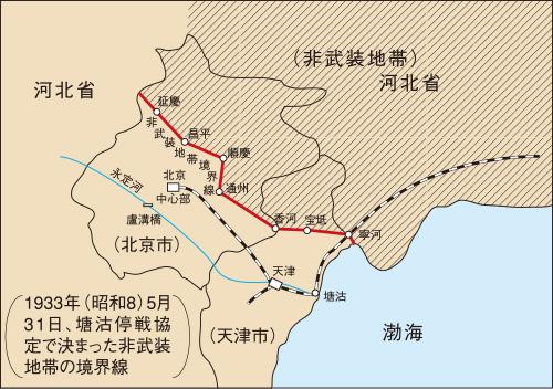 非武装地帯の境界線 (想像図)
