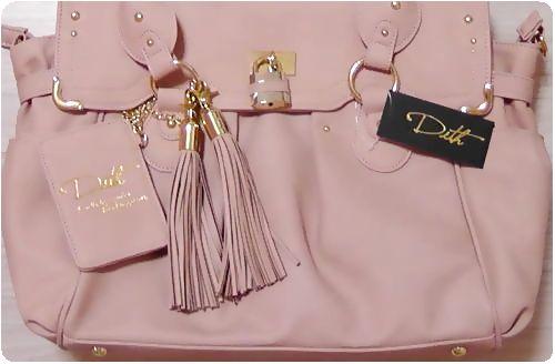 Dith/ディスのボストンバッグ【HELENA 12AW/へレナ】ピンク