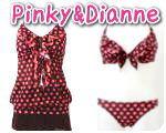 ピンキー&ダイアンのドット柄水着【Pinky&Dianne】コンビネーションドット4点セット