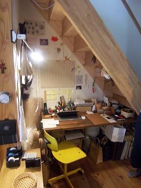 階段下のワークスペース