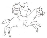 弓を射る騎馬遊牧民