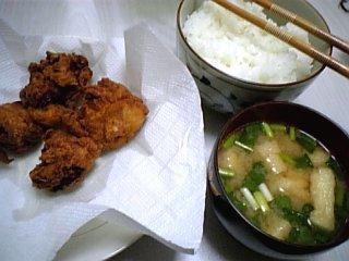 料理 2010年3月22日更新 から揚げ定食