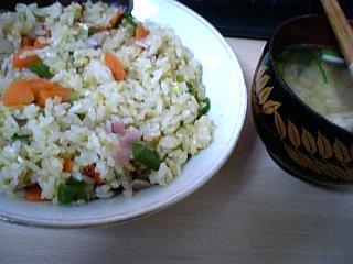 料理 2010年3月29日更新 炒飯と味噌汁