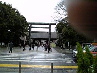 景色 2010年4月2日のウォークラリー 靖国神社