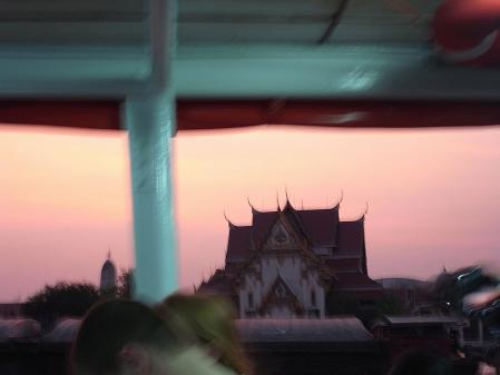 チャオプラヤの夕暮れ