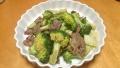 牛肉とブロッコリーの炒め物 20141213