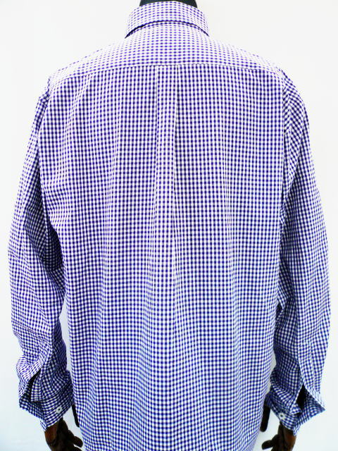 INTERFACE GINGHAM CHECK ROLL UP SH