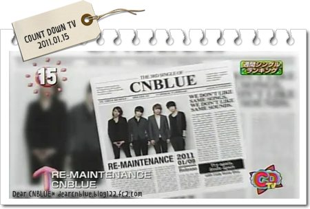 CNBLUE~15位[COUNT DOWN TV]