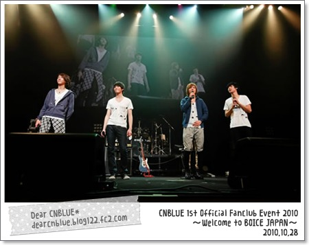 CNBLUE 1st Official Fanclub Event 2010~Welcome to BOICE JAPAN~