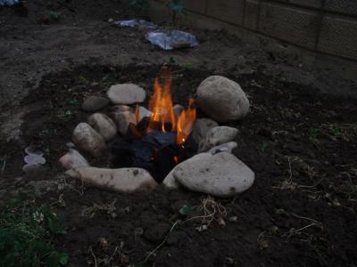 石組みの炉