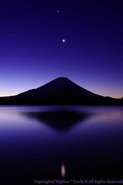月・星 そして富士山