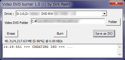 Video DVD burner
