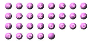 ホームページ無料素材 【矢印ボタン タイプ:4A】
