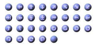ホームページ無料素材 【矢印ボタン タイプ:4B】
