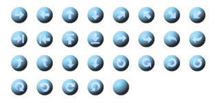 ホームページ無料素材 【矢印ボタン タイプ:4F】