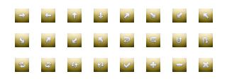 ホームページ無料素材 【矢印ボタン タイプ:7G】