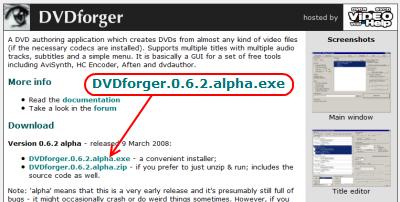 DVDforgerダウンロードサイト