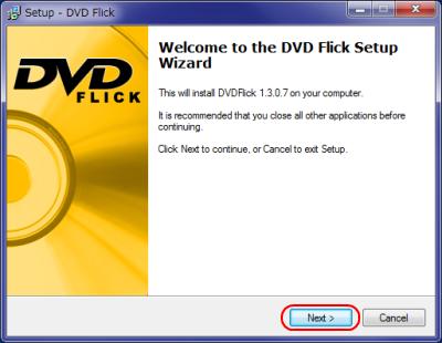 DVD Flick インストール
