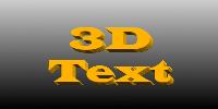 3D Text加工後