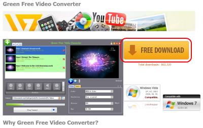 Green Free Video Converter ダウンロード