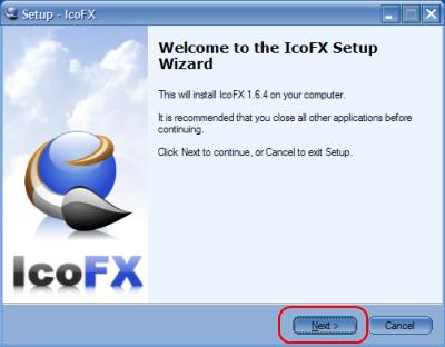 IcoFX Setup Wizard