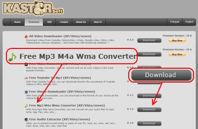 Kastor Free Mp3 M4a Wma Converter ダウンロード