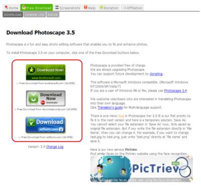 Photoscapeダウンロード