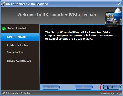 RK Launcher iVista Leopard Installer