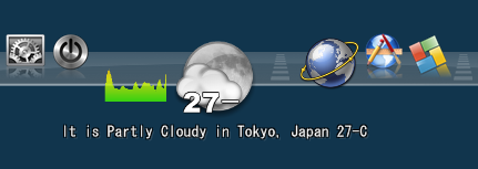 Weather Docklet設定完了