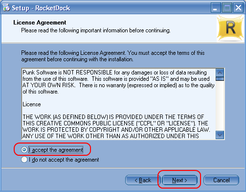 RocketDock利用規約