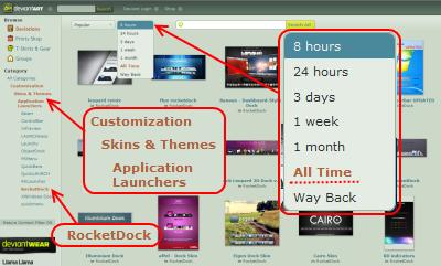 deviantART.com Rocketdockテーマ