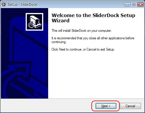 SliderDock Setup Wizard