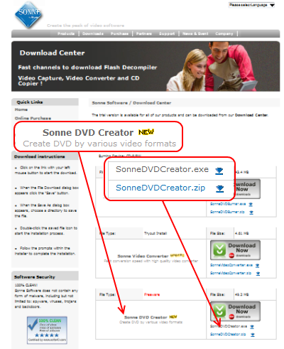 Sonne DVD Creator ダウンロード